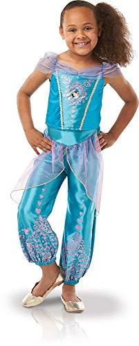 Feuer Kostüm Märchen - Rubie 's 640724M Offizielles Disney Prinzessin Jasmin Gem costume-medium 5-6Jahre, Höhe 116cm, Mädchen, M