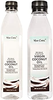 Maxcare Virgin Coconut Oil (Cold Pressed) 500ML + Maxcare Virgin Coconut Oil (Cold Pressed) 250ML