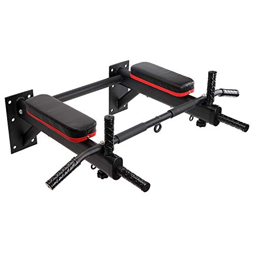 KYLIN SPORT Barre de Traction Fixation Murale Barre d'exercice Musculation Fitness, Pull-ups de Fixation Max. 300 KG (6 en 1 Multifonction)