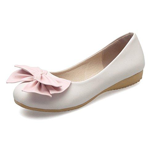 Süße Halbschuhe/Bogen Student Schuhe/die Mädchen Prinzessin Schuhe/Flache Freizeitschuhe C