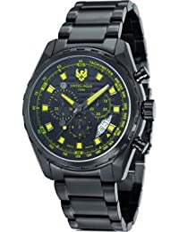 Swiss Eagle SE-9062-77 - Reloj , correa de acero inoxidable color negro