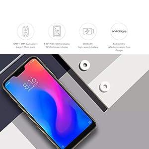 Xiaomi A2 Lite - Smartphone Dual Sim, 4G 64 GB, Gold, (EU Versión) [Versión importada]