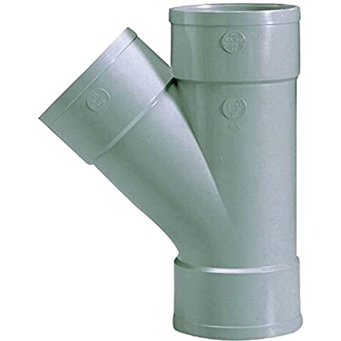 Culotte PVC gris 45° Ø 125 mm Triple emboîture Girpi