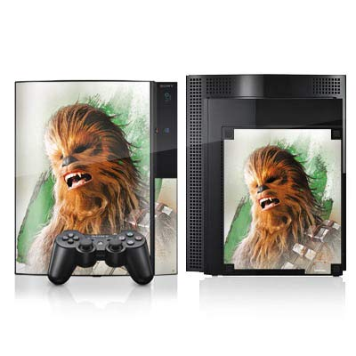 atibel mit Sony Playstation 3 Aufkleber Folie Sticker Star Wars Chewbacca Offizielle Lizenz ()