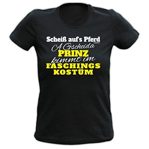 Damen T-Shirt / Ladyshirt - Scheiss aufs Pferd - Bayerisches Kostüm oder Verkleidung für den Fasching oder Geschenk, (Kostüme Bayerische Lady)