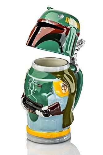 Star Wars Boba Fett Beer Jug 25 cm, Ceramic, Green, 9 cm