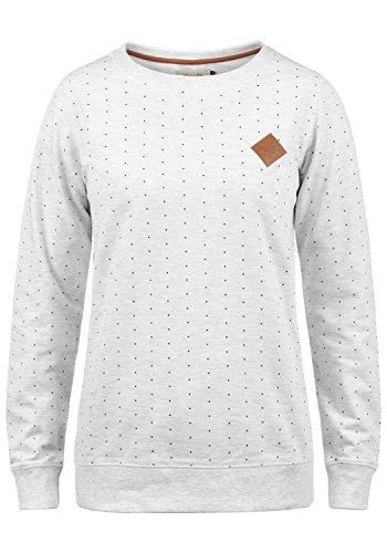 BlendShe Polly Damen Sweatshirt Pullover Sweater Mit Rundhalsausschnitt, Größe:XL, Farbe:Oatmeal Melange (20046)