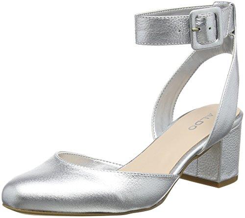 ALDO Damen Jeriesen Slingback Pumps, Silber (Silver), 39 EU
