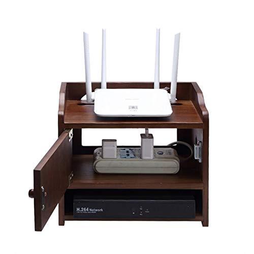 JCNFA Multifunktions-WiFi-Router-Aufbewahrungsbox-Regal, Desktop-Speicher-Set-Top-Box/Kabel-Box/Steckdosenleiste, for Haus Und Büro, 3Layer -