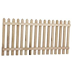 Generic Wooden Picket Fence Garden Yard Dollhouse Miniature 1/12 Wood Color