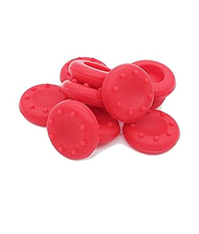 Stillshine prise de pouce thumb grip silicone caps pour PS2, PS3, PS4, Xbox 360, Xbox One, Wii U Manette (Red 10pc)