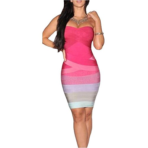 Dame Wrap Chest Bump Tasche Hip Kleid Kleid Europa und Amerika , pink , l (Womens St Patricks Tag Kleidung)