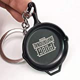 Blue Aura PUBG Spoon Pan Black Metal Keychain Collectible Gifting Bike Keychain Car Keychain