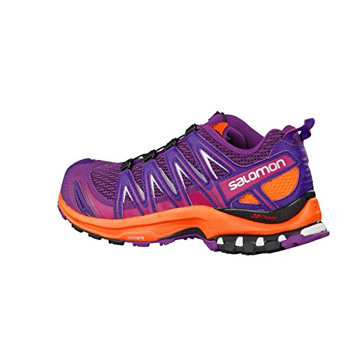 Salomon  XA PRO 3D, Chaussures de Trail femme Grape Juice/Flame/Acai