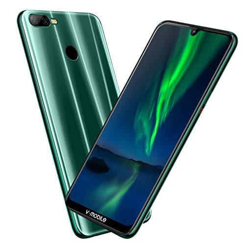 Electricsmart Móviles Libres 4GB RAM 64GB Face ID 4G WiFi Teléfono Smartphone Dual Full HD Cámara - Cian