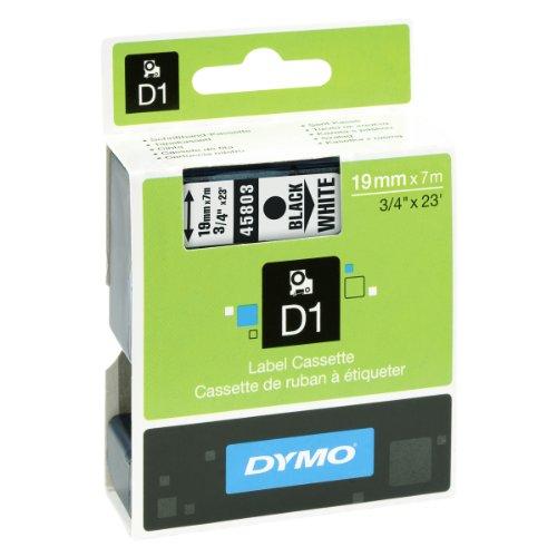 Schwarz 19 (Dymo S0720830 D1-Etiketten (Selbstklebend, für den Drucker LabelManager, 19 mm x 7 m Rolle) schwarz auf weiß)