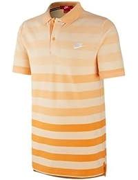 Nike Polo (GS Slim Solstice, Vivid Naranja/Blanco, XL, 728699–868