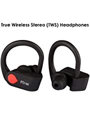 PTron Twins Pro Headphone True Wireless Earphone in-Ear Bluetooth TWS Headset with Mic for All Smartphones (Black)