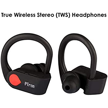 31b12adcd9b PTron Twins Pro Headphone True Wireless Earphone in-Ear Bluetooth TWS  Headset with Mic for All Smartphones (Black)