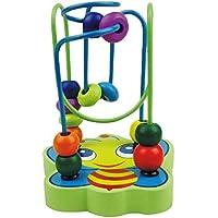 Highdas 1 PC para niños juguetes de madera, colorido mini bebé de la abeja Círculo de bolas juego de laberinto, Montessori de madera que se inclina Juguetes, juguetes educativos tempranos para los niños de los niños