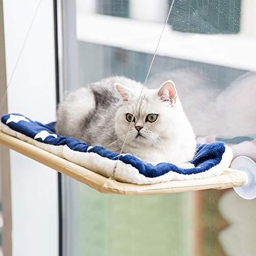 CHONGWU Cat Window Swing cat Hammock Hanging Hanging Bed Hanging Basket cat Litter Suction Cup Hanging Window sill Glass pet Supplies Bearing 35 kg