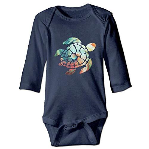 WBinHua Bodys et Combinaisons, Space Watercolour Turtle Baby Newborn Long Sleeve Onesies Bodysuits