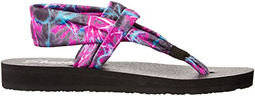 Skechers Meditation-Time Warp, Flip Flop Donna Nero (bkmt)