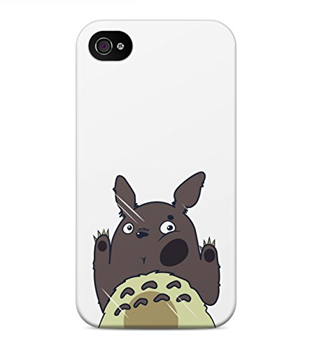 My Neighbor Totoro Behind Window Hard Plastic Snap On Back Case Cover For iPhone 4 / 4s Custodia
