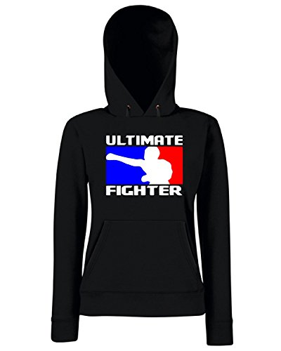 T-Shirtshock - Sweats a capuche Femme TR0141 Ultimate Fighter T-Shirt MMA, Boxing, Muay Thai, UFC - Inley Noir