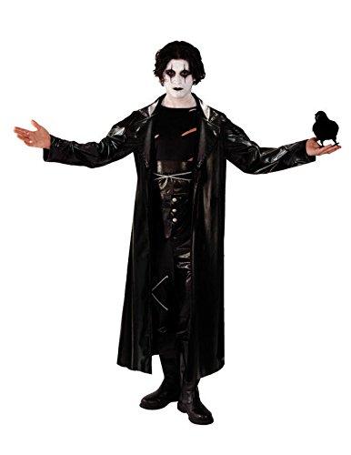 Klassiker Kult Kostüme (Goth Die Krähe Superheld Kostüm Karneval Fasching Verkleidung Herren)