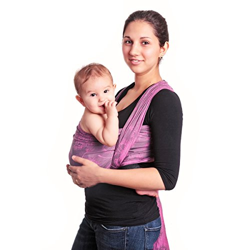 HOPPEDIZ Jacquard Baby-Tragetuch Chicago pink 4,60 m