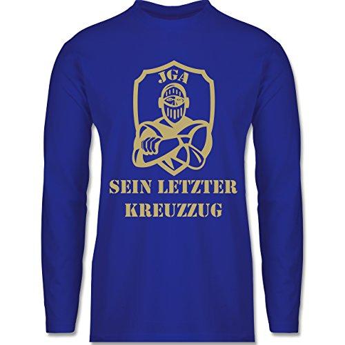 JGA Junggesellenabschied - Sein letzter Kreuzzug - Longsleeve / langärmeliges T-Shirt für Herren Royalblau