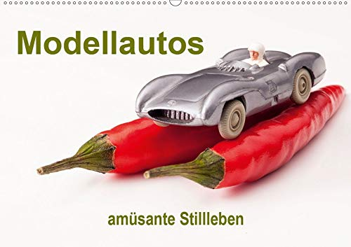 Modellautos - amüsante Stillleben (Wandkalender 2020 DIN A2 quer): Modellautos dargestellt in kulinarischer Umgebung (Monatskalender, 14 Seiten )