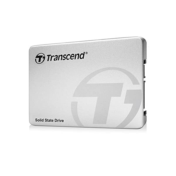 Transcend SSD370S Interne (6,4 cm (2,5 Zoll), SATA III, MLC) mit Aluminium-Gehäuse Silber