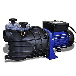vidaXL Schwimmbadpumpe 500W Umwälzpumpe Poolpumpe Filterpumpe Elektronik Pumpe