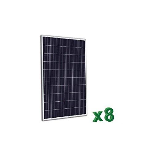 puntoenergia Italien-Set von 8Solarpanel Photovoltaik 270W 24V insgesamt 2160W Anlage Haus Hütte-set8-tr270p