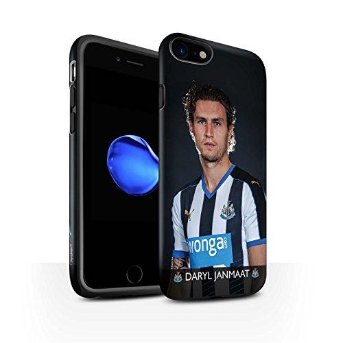 Officiel Newcastle United FC Coque / Matte Robuste Antichoc Etui pour Apple iPhone 7 / De Jong Design / NUFC Joueur Football 15/16 Collection Janmaat