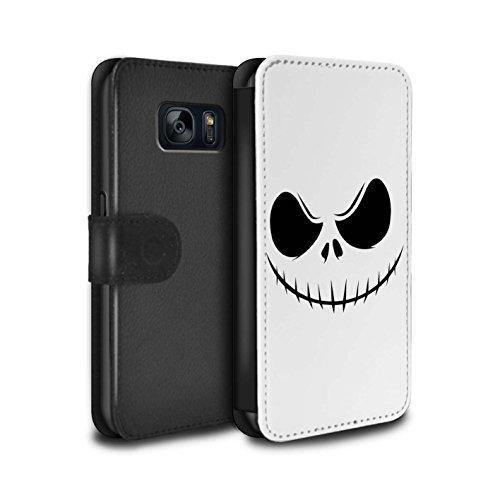 Stuff4® PU-Leder Hülle/Case/Tasche/Cover für Samsung Galaxy S7/G930 / Jack Skellington Inspiriert Kunst Muster/Grusel Filmkunst ()