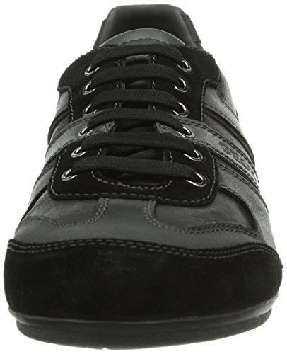 Geox U Houston, Baskets Basses homme Noir - Noir (C999)