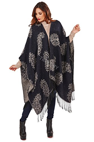 Boutique Womens Luxury Knitted Winter Blanket Capes
