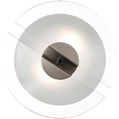 Deckenlampe Deckenleuchte Rundleuchte Rund Glas Stahl gebürstet Lampe Licht ARTE von etc-shop bei Lampenhans.de