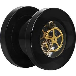 00 jauge Steampunk noir montre de poche vis mouvement
