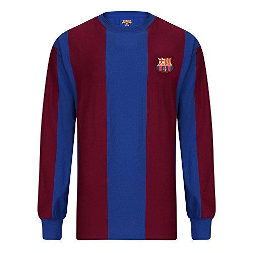 Official Retro Barcelona 1974 Long Sleeve Retro Football Shirt 100 COTTON