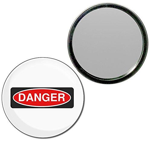 Danger - 55mm ronde de miroir compact