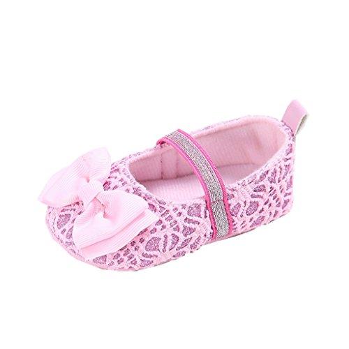 Babyschuhe Auxma Bowknot Sapatos Anti-derrapante Chinelos Criança Para 3-12 Meses (novembro 03-6 M, Rosa) Rosa