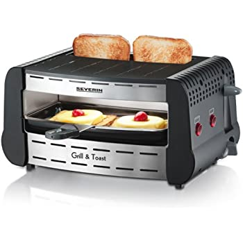 severin gt 2802 gourmet grill toast edelstahl geb rstet grau toaster und grill. Black Bedroom Furniture Sets. Home Design Ideas