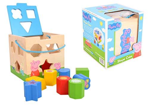 (Peppa Pig Motorikwürfel Motorikspielzeug Holzspielzeug # Spielzeug Lernspielzeug Geometrische Holz Blöcke Puzzle für Kinder & Baby)