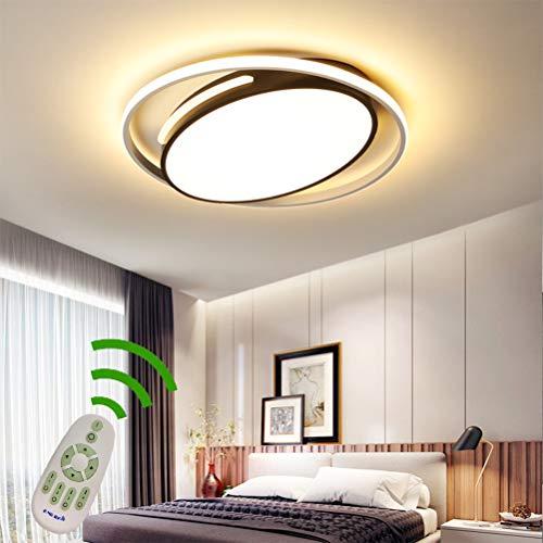 LED 50w Modern Deckenleuchte Dimmbar Wohnzimmer Schlafzimmer Lampen Ring Deckenlampe Fernbedienung Oval Design Acryl-schirm Metall Kronleuchter für Esszimmer Bad Küchen Deko Decke Leuchten (Ø50*H5cm)