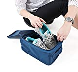 #9: YUTIRITI 1 PC Portable Shoes Storage Space Saving Bag Organizer Pouch with Zipper Holder Travel & Daily Use - Random Color