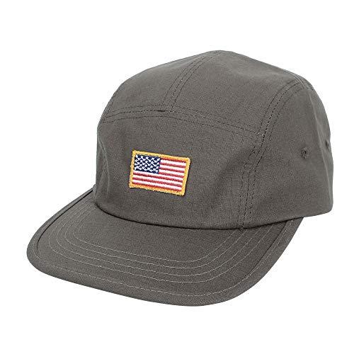 Imagen de wim  de béisbol  de trucker sombrero de jockey flat bill cap us american flag 5 panel hat mu21161 grey